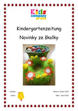 Kindergartenzeitung Novinky ze školky