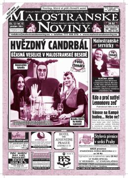 HVĚZDNÝ CANDRBÁL - Malostranské noviny