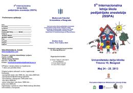 Internacionalna škola dečje anestezije