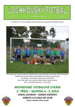 Lochkovský fotbal 15.9.2012