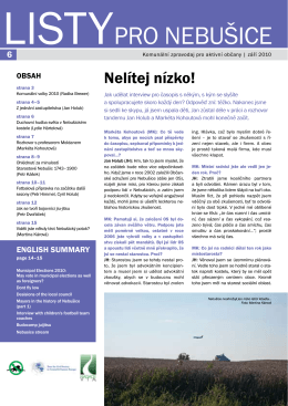 Listy pro Nebušice, září 2010