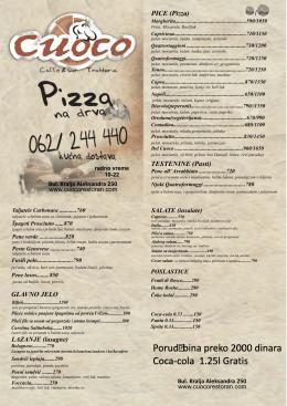 cuoco flajer.cdr - Restoran & picerija CUOCO