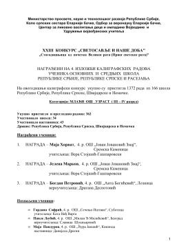 Категорија III-IV разред - удружење војвођанских учитеља