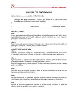 Ugovor o poslovnoj saradnji