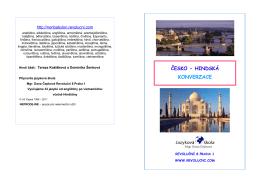 Česko - hindská konverzace - k tisku