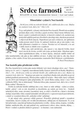 Srdce farnosti - Římskokatolická farnost Lysá nad Labem