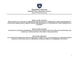 rregullore nr. 10/2011 - Agjencia e Ushqimit dhe Veterinarisë