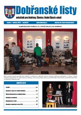 Dobřanské listy - květen 2013 - Městské kulturní a informační