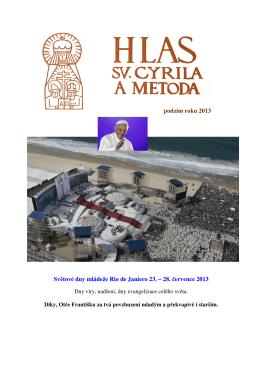 Hlas sv. Cyrila a Metoda - Podzim 2013
