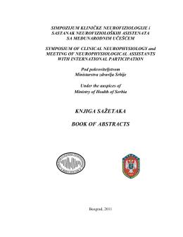 Knjiga - Udruženje za kliničku neurofiziologiju Srbije