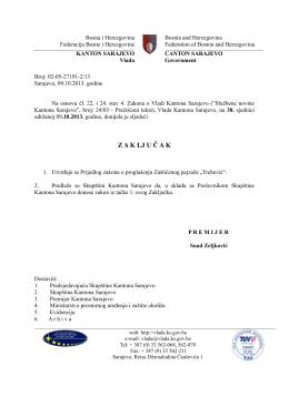 Prijedlog zakona o proglašenju Zaštićenog pejzaža