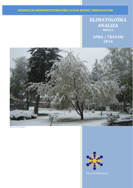 april / travanj - Federalni hidrometeorološki zavod BiH