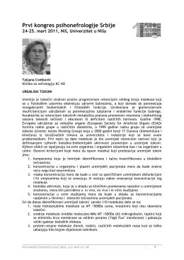 Prvi kongres psihonefrologije Srbije - Psychonephrology