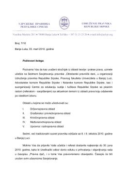 Veselina Masleše 28/1 78000 Banja Luka Tel/faks + 387 51 21 23