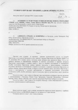 Ugovor o pružanju pravnih (advokatskih) usluga