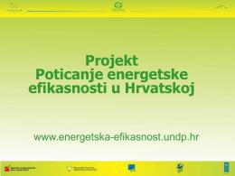 Projekt Poticanje energetske efikasnosti u Hrvatskoj