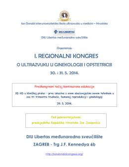 Preliminarni program - 1. regionalni kongres o ultrazvuku u