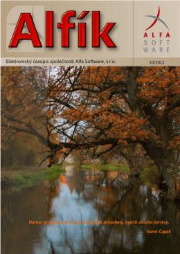 Říjen 2012 - Alfa Software sro