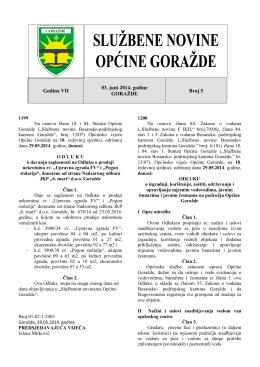 Broj 5.pdf - Općina Goražde
