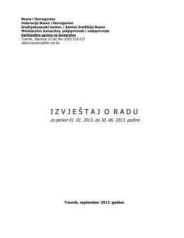 Izvještaj - Vlada SBK