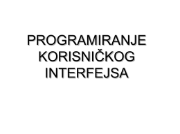 PKI 01.pdf - Programiranje korisničkih interfejsa