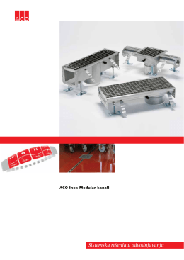 ACO Inox Modular kanali 2012