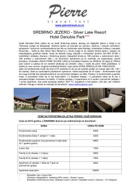 SREBRNO JEZERO - Silver Lake Resort Hotel