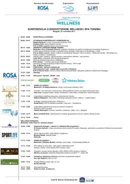 Program Konferencije - Centar za promociju Wellness i Spa