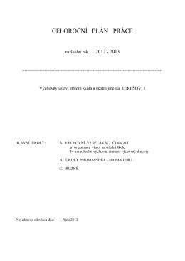 Celoroční plán práce 2012-2013