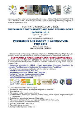 inoptep 2015 processing and energy in agriculture ptep 2015