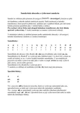 Sanskrtská abeceda a výslovnost sanskrtu