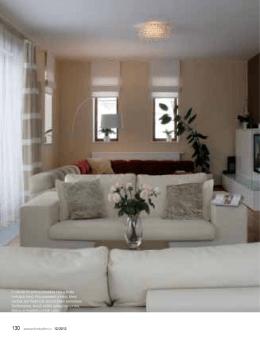 V obývacím pokoji převládá bílá a škála hnědých tónů