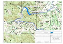 Dispozicija objekta MHE Brusnik na topografskoj karti