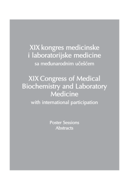 XIX Congress of Medical Biochemistry
