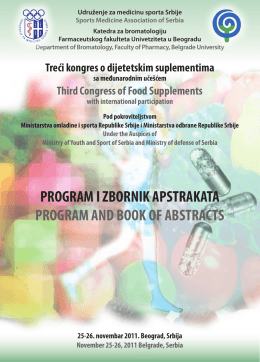 program i zbornik apstrakata program and book of abstracts