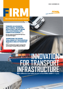 innovation for transport infrastructure