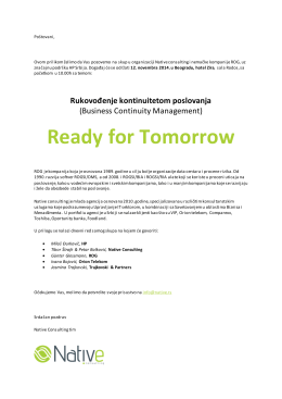 Ready for Tomorrow - NATIVE Consulting