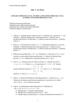Linearna preslikavanja i matrice