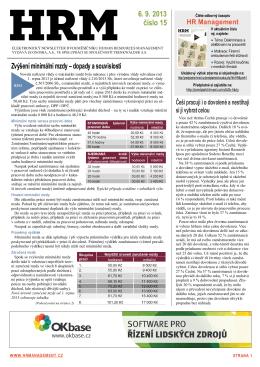 Zvýšení minimální mzdy – dopady a souvislosti 6. 9