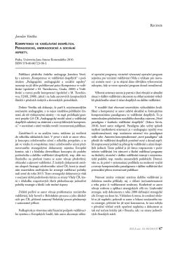 Jaroslav Veteška: Kompetence ve vzdělávání dospělých
