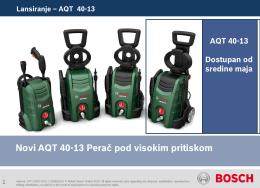 Perač pod visokim pritiskom AQT 40-13.