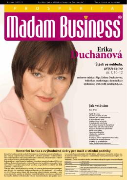 Stánout číslo - Prosperita Madam Business