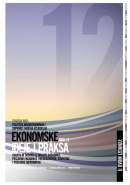 ekonomske ideje i praksa - Ekonomski fakultet