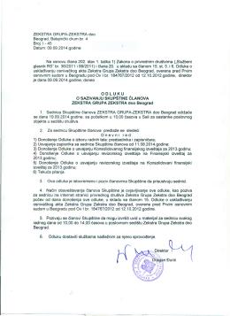 ZEKSTRA GRUPA-ZEKSTRA doc Beograd, Batajnicki drum br. 4