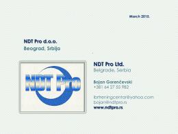 Prezentacija NDT Pro d.o.o.