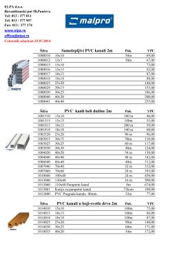 Cenovnik pdf