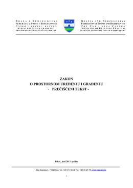 Zakon o prostornom uredenju i gradenju
