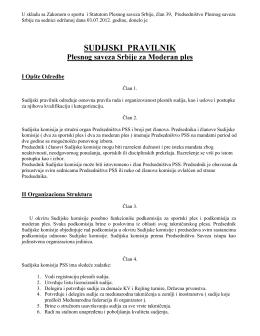 Sudijski pravilnik PSS