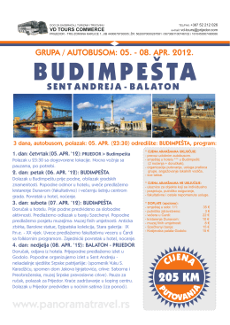 BUDIMPEŠTA - VD Tours Commerce Prijedor