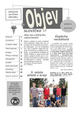 2. číslo - ZŠ Jevíčko